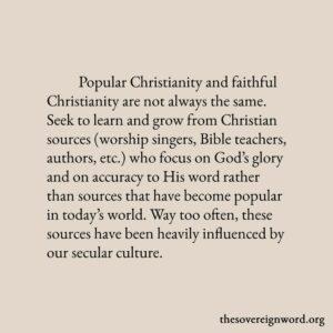 Popular Christianity: The Danger