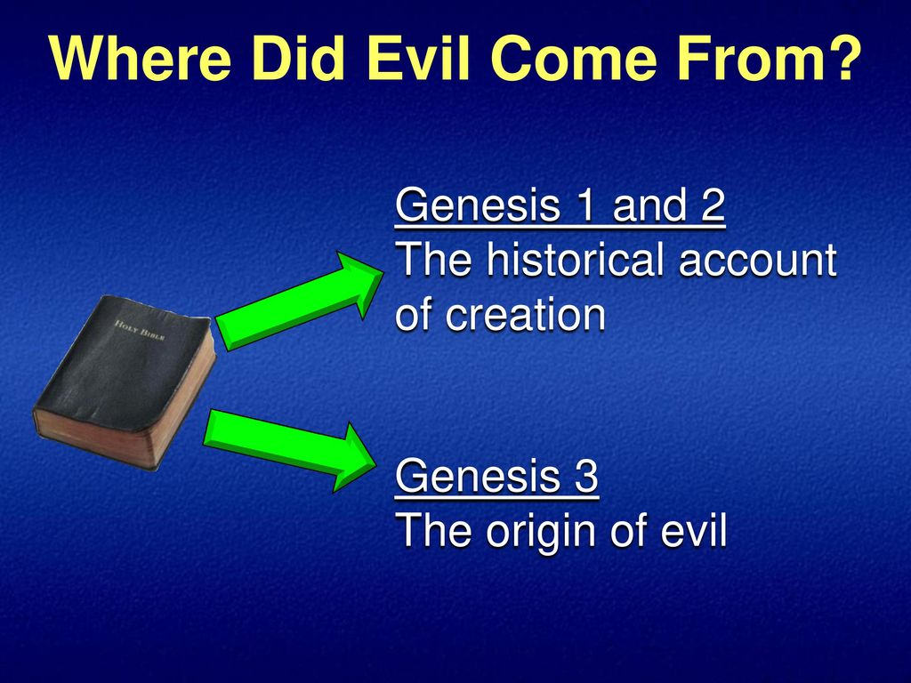 Why Does God Allow Evil to Exist - Where does evil come from?