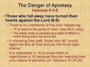 Can a Christian Backslide? - Apostasy
